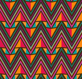 Abstract Ethnic Seamless Geometric Pattern — Vector de stock