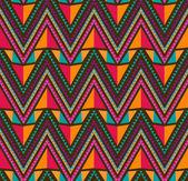 Abstrato étnicas sem costura padrão geométrico — Vetorial Stock