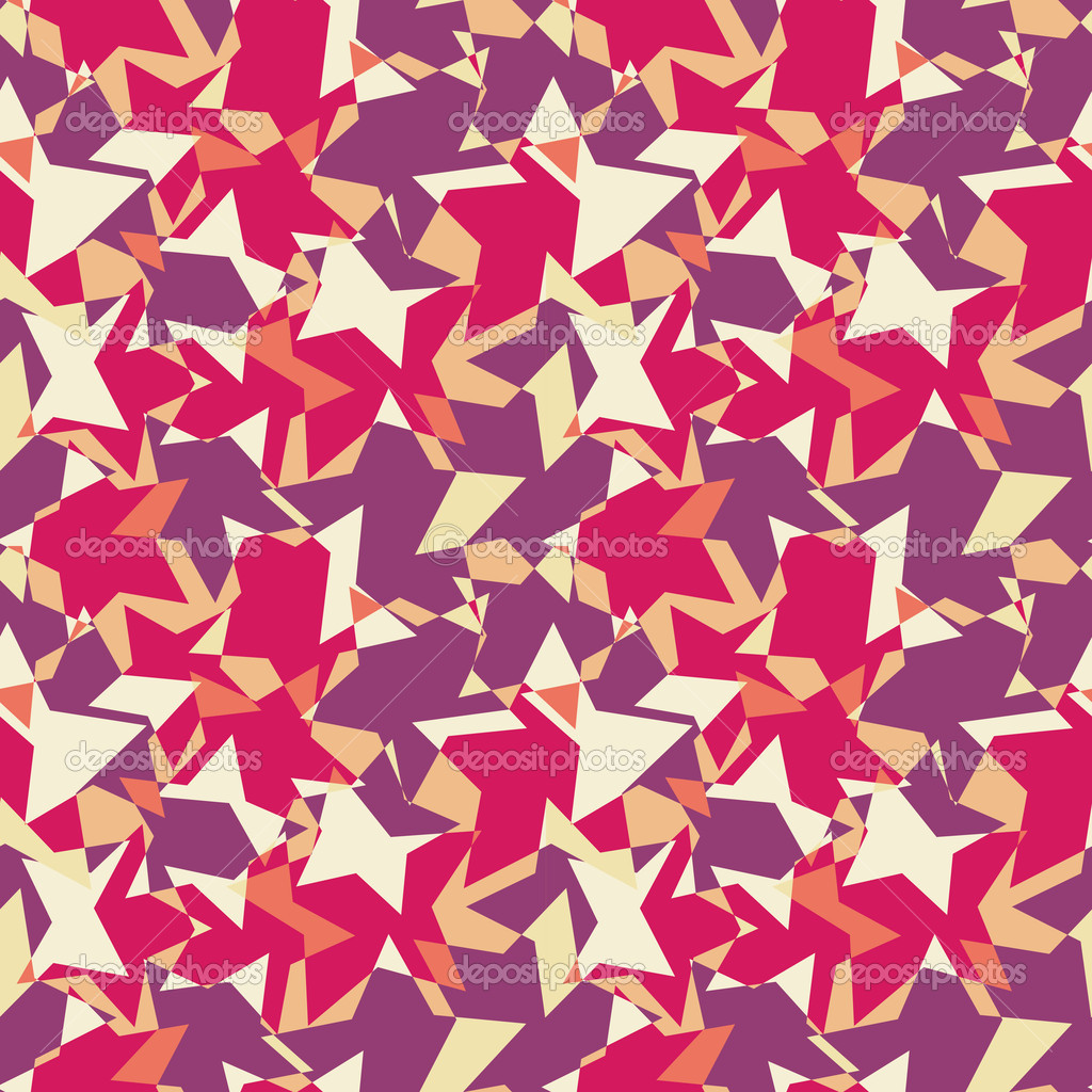 Seamless Abstract Geometric Pattern from Element in Chaotic Order. Mosaic Vector Illustration — Stock Vector #9685589