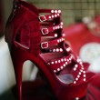 Window Display of Red Stiletto High Heels — Stock Photo #9102472