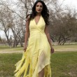 Young Teen East Indian Woman Yellow Dress — Stock Photo #9438525