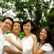 Stock Photo: Asian ethnic family portrait