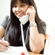 Pretty secretary on the phone — Stock Photo