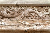 Antique asian javanese wood carving — Stock Photo