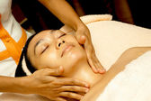 Face Massage at Facial Treatment — Stock Photo