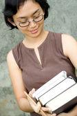 本スマート アジア女性 — ストック写真