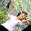 Happy asian business woman — Stock Photo