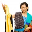 Ethnic asian girl choose an outfit — Stock Photo #9236309