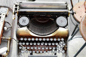 Old antique typewriter — Stock Photo