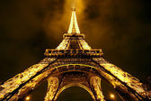 Eiffel tower by Night (Editorial use only) — Стоковое фото