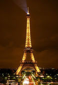 Eiffel tower by Night (Editorial use only) — Stock Photo