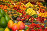 Fruit market Fresh fruits and vegetables — Stock Photo