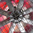 Stock Photo: Industrial fbehind metal grate