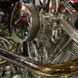 Stock Photo: Motorbike engine
