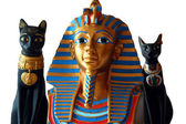 Miniature Egyptian Statues — 图库照片