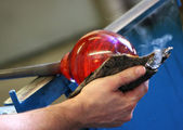 Blowing Glass — Stock Photo