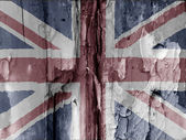 British grunge flag — Stock Photo