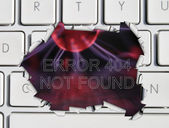 Page not found error message — Stock Photo