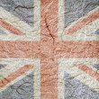 Union Jack flag textured paper — Stock Photo