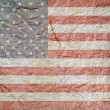 US textured paper flag — Stock Photo
