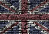 Union Jack wall — Stock Photo