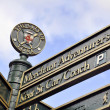 York tourist signpost - Stockfoto