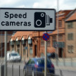 speed camera sign — Stock Photo