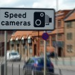 Speed camera sign — Stock fotografie