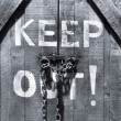 Stock Photo: Keep out!
