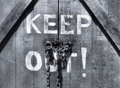 Keep out! — Stockfoto