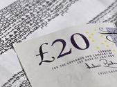 Twenty pound banknote — Stock Photo
