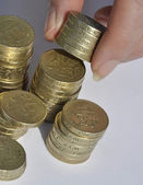 Accatastamento monete — Foto Stock