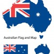 Australian map and flag — Stock Vector
