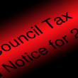 Council tax — Stock Photo