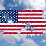 USA Jigsaw pattern — Stock Photo #8909680