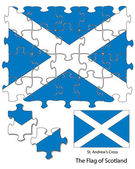 Scotland jigsaw pattern — Stock Vector