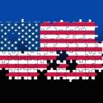 USA Jigsaw pattern — Stock Photo #9239255