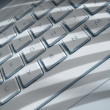 Stock Photo: Shadows on laptop keyboard
