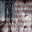 Royalty-Free Stock Photo: American grunge flag