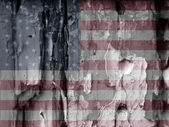 American grunge flag — Stock Photo