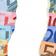 Stock Photo: Worthless Euro