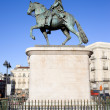 Statue of King Charles III in Madrid - Stock Photo