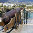 Medieval Cannon at the Balcon de Europa — Stock Photo