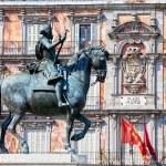 Statue of King Philip III at Plaza Mayor — Stock Photo