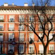 Stock Photo: Tenement House Facade in Madrid