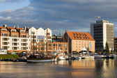 City of Gdansk Harbor — Stock Photo