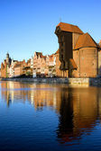 Crane in the Old Town of Gdansk — Stock Photo