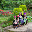 hmong hill tribe family — Stock Photo
