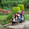 Foto de Stock  : Hmong Hill Tribe Family