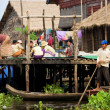 Stock Photo: Tonle Sap Village Life